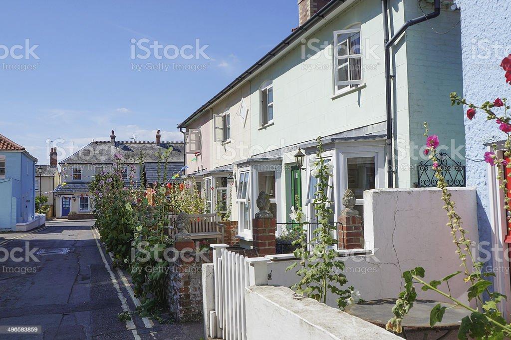 english street terrace housing architecture stock photo