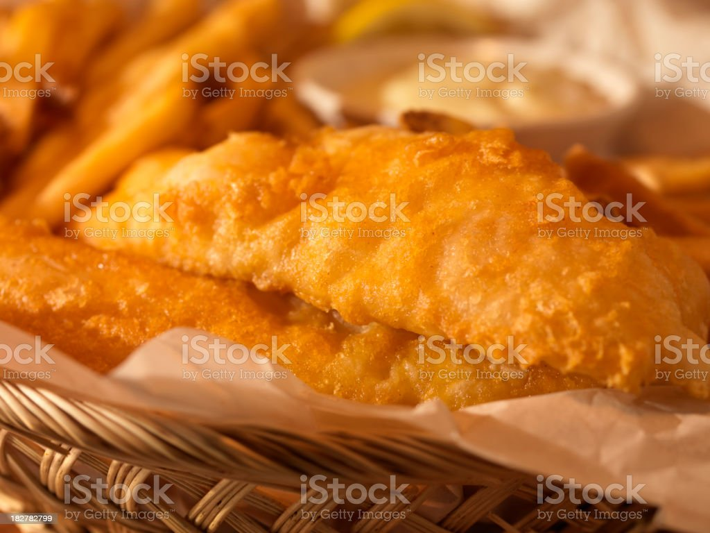 English Style Fish and Chips royalty-free stock photo