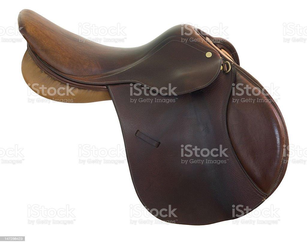 English style horse saddle stock photo