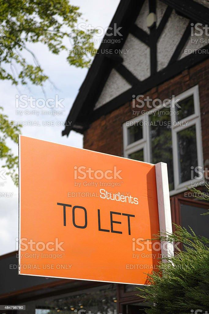 English suburban house For Let. stock photo