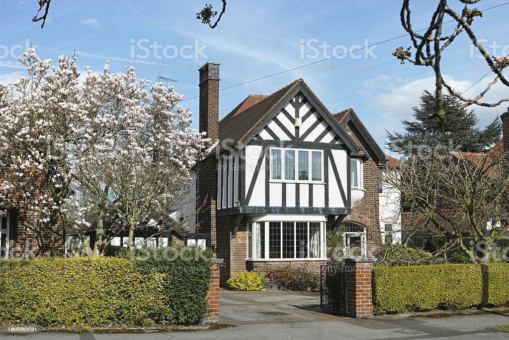 English suburban house. royalty-free stock photo
