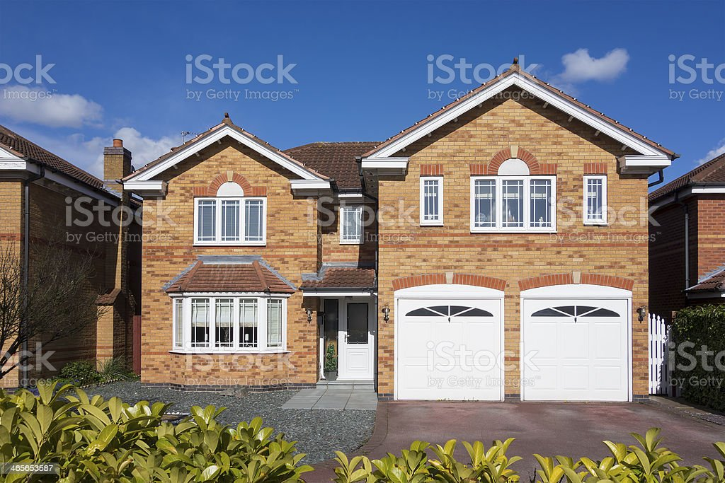 English suburban house. stock photo