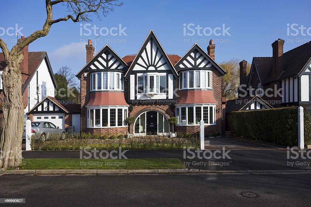 English suburban house. royalty-free stock photo