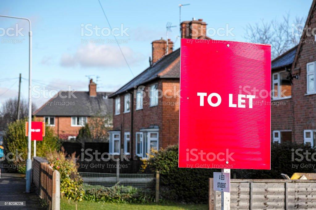 English suburban houses For Let. stock photo
