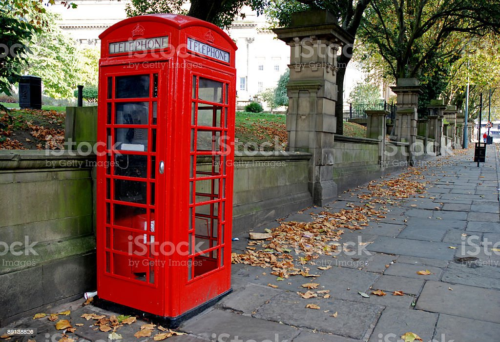 English telephone booth stock photo