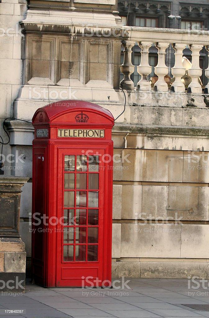 English Telephone Kiosk royalty-free stock photo