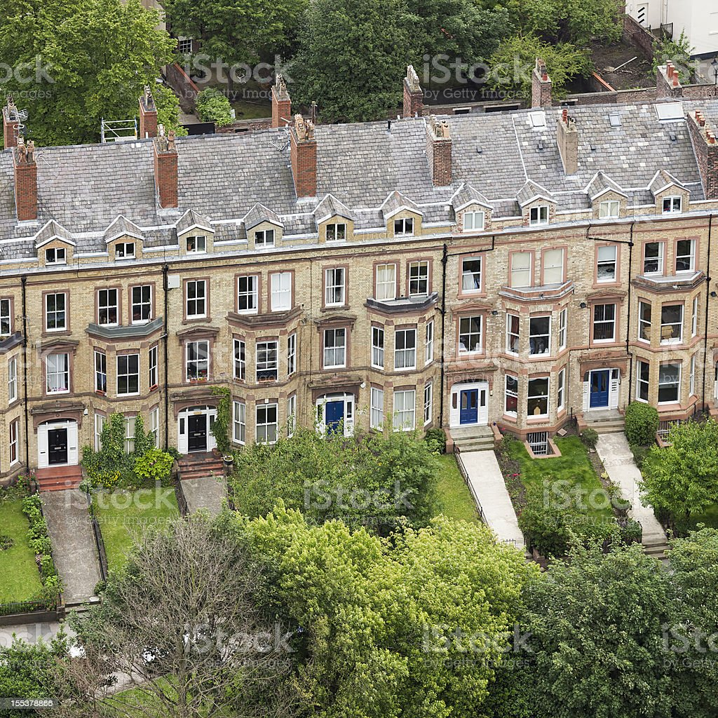 English Terraced Houses stock photo