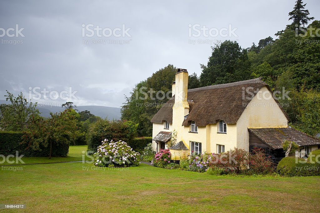 English Thatched Cottage stock photo