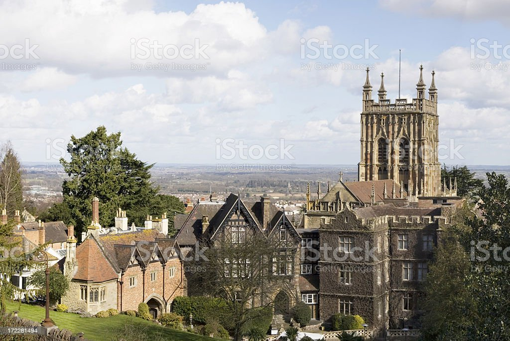 English Town Panorama stock photo