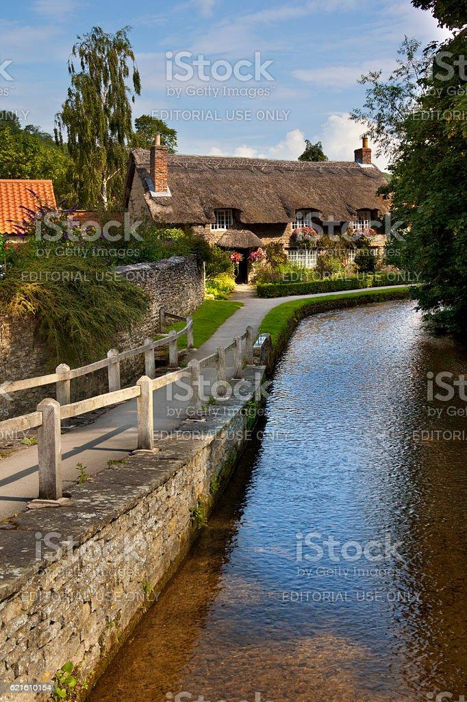 English Village - North Yorkshire - England stock photo
