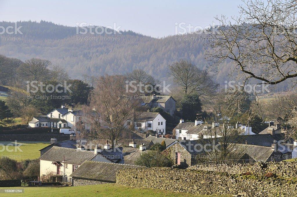 English village. stock photo