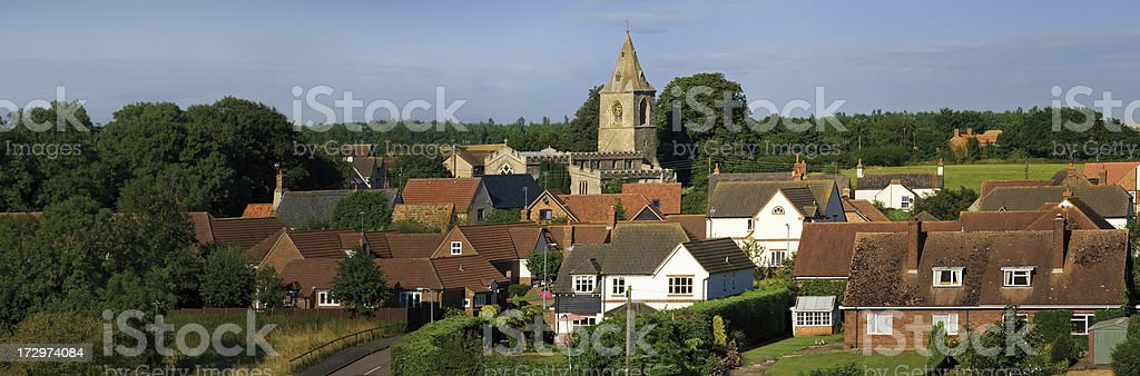 english village stock photo
