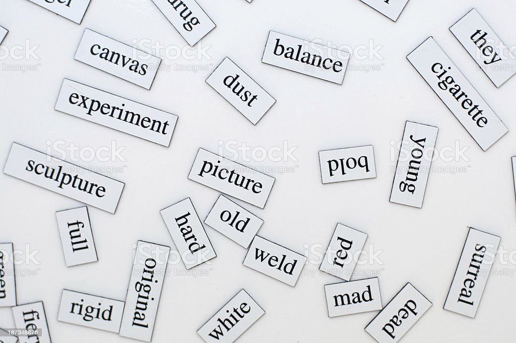 English vocabulary stock photo