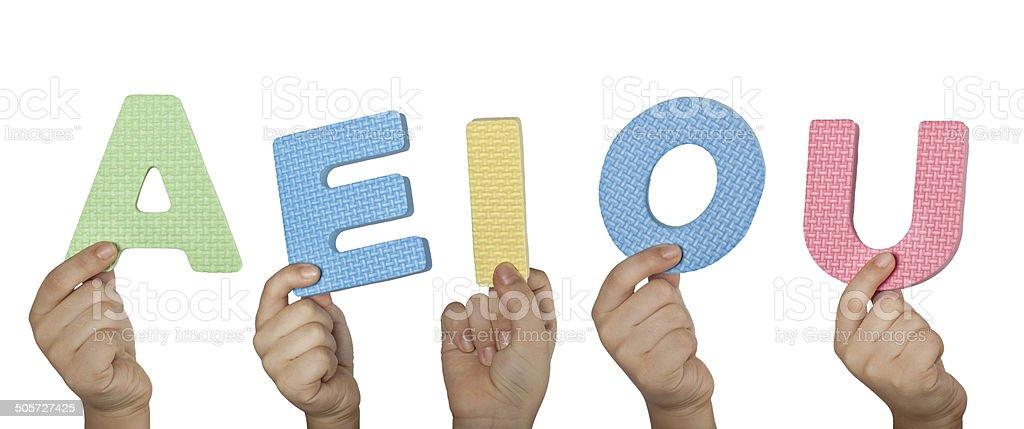 English vowels stock photo