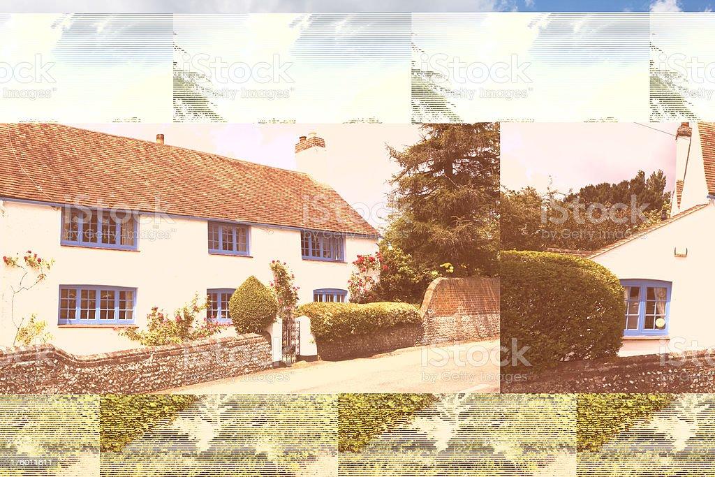 English Walled Garden at Hardwick Hall stock photo