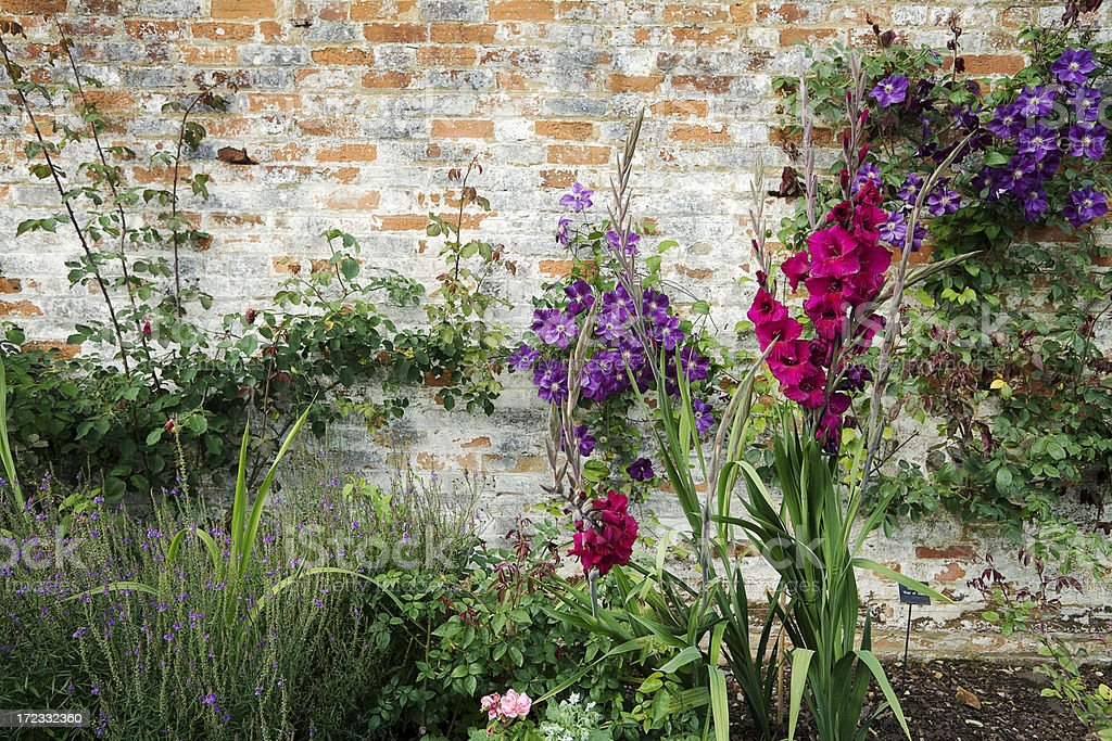 English Walled Garden at Mottisfont stock photo