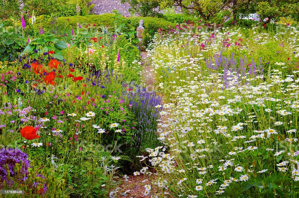 English Walled Garden royalty-free stock photo