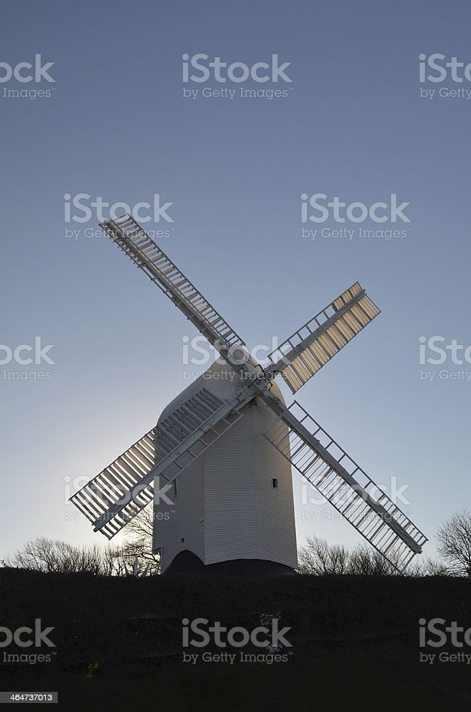 English windmill built in 1821 stock photo