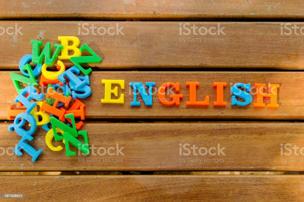 English, word stock photo