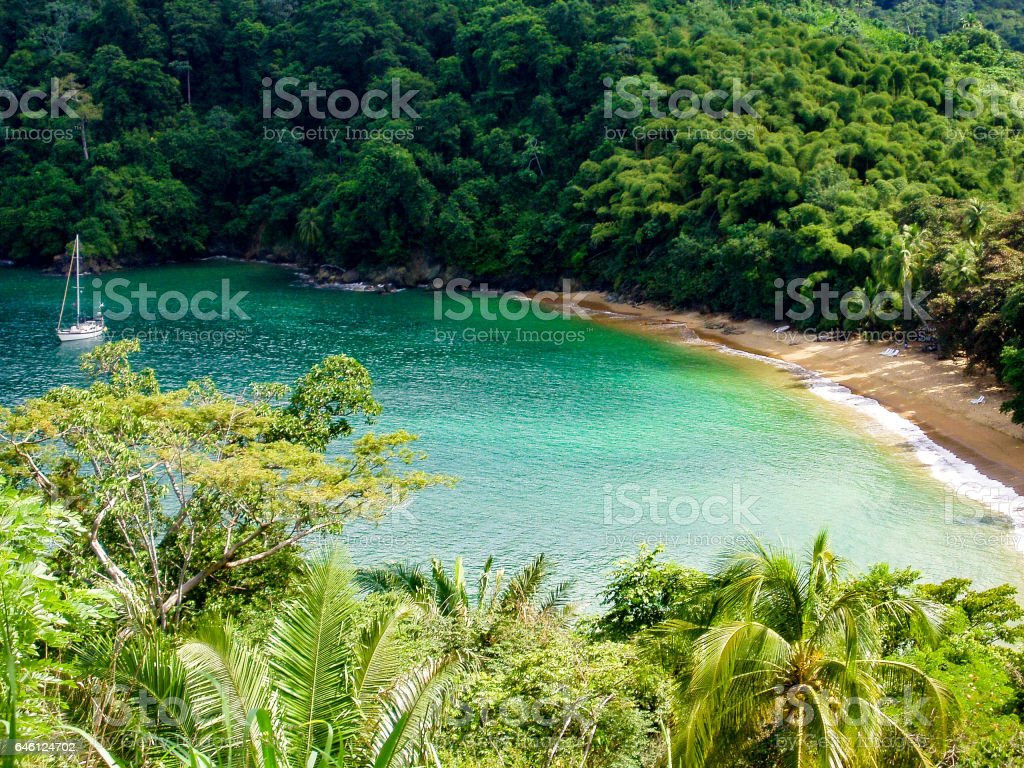 Englishman's Bay, Tobago stock photo
