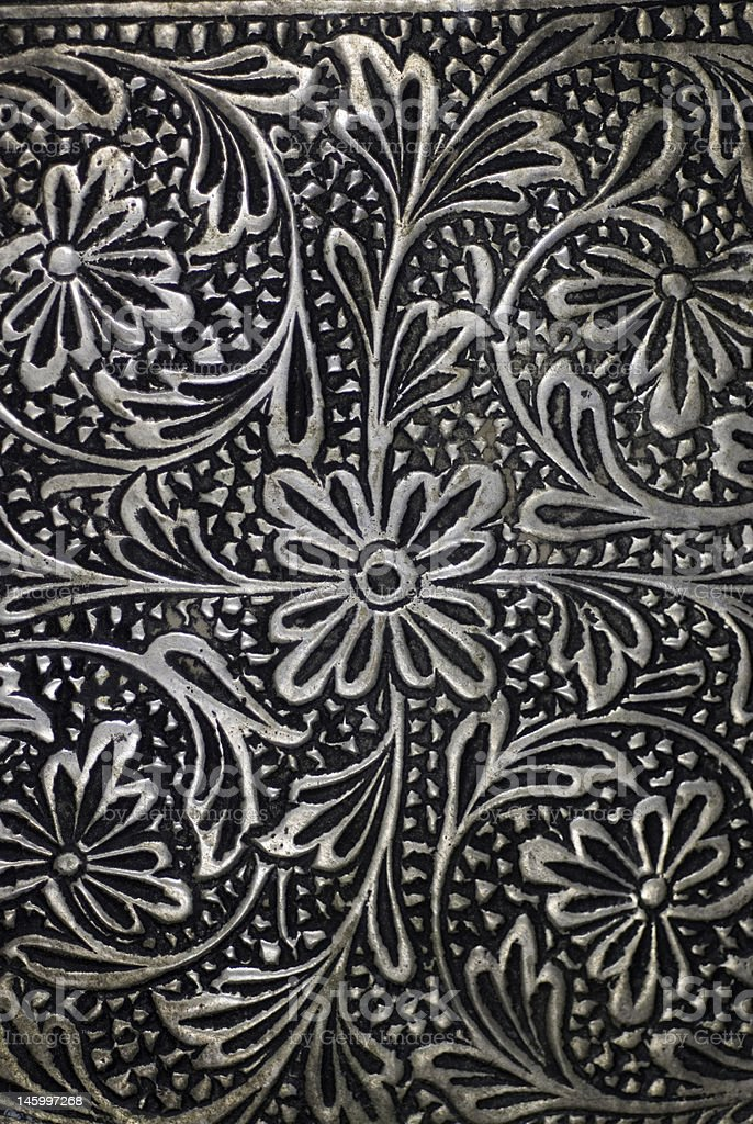 Engraved Floral Pattern 6 royalty-free stock photo