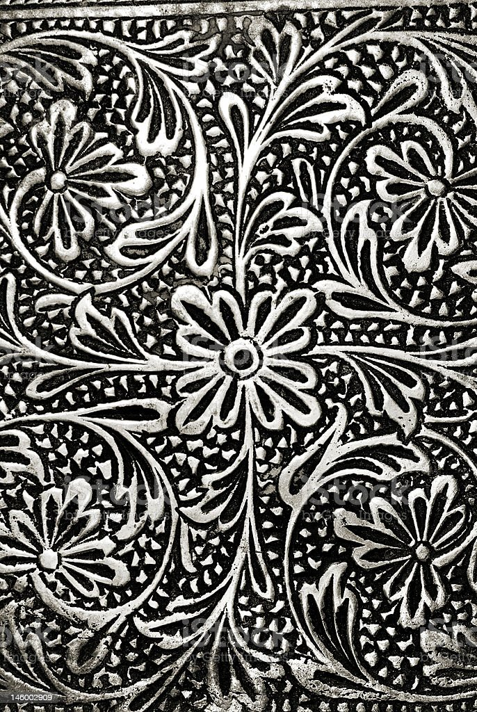 Engraved Floral Pattern stock photo
