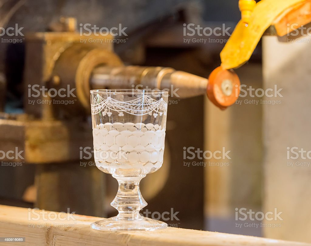 Engraved Glass stock photo