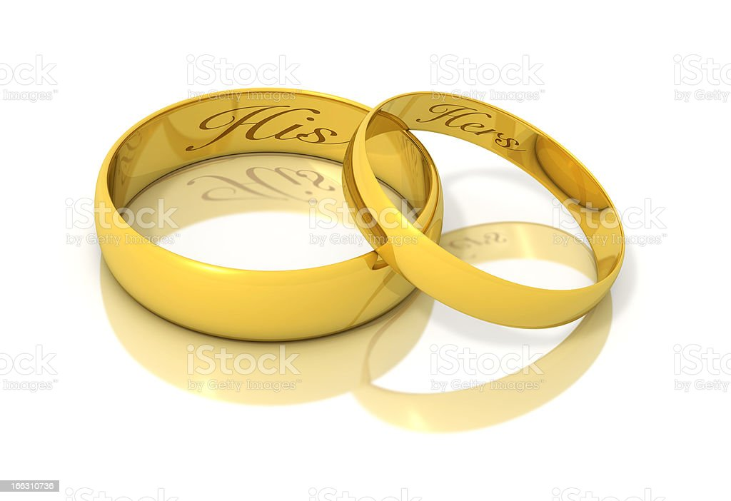 Engraved Gold rings royalty-free stock photo