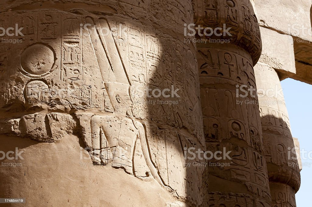 Ancient Egypt in Luxor royalty-free stock photo