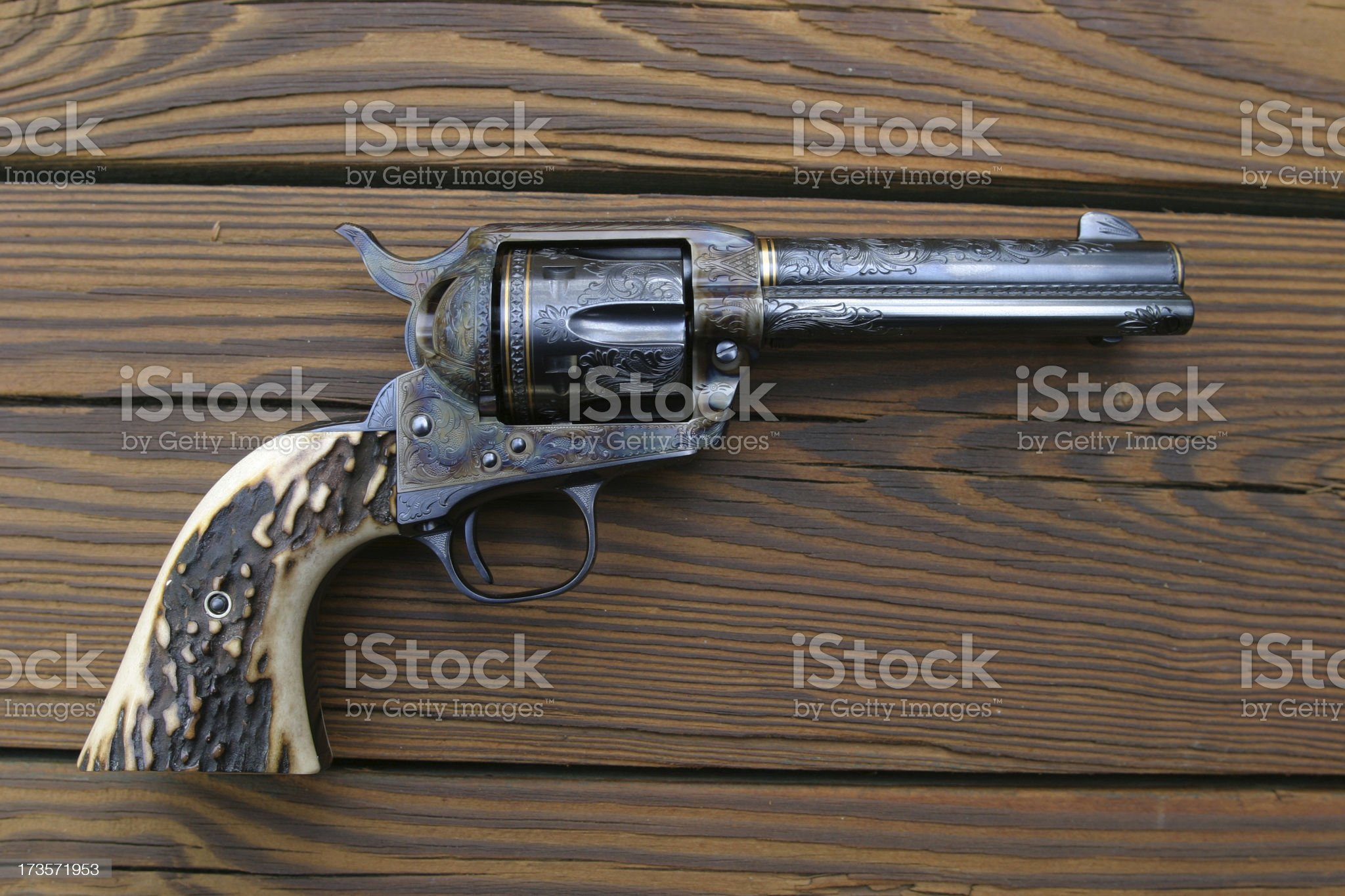 Engraved Revolver royalty-free stock photo