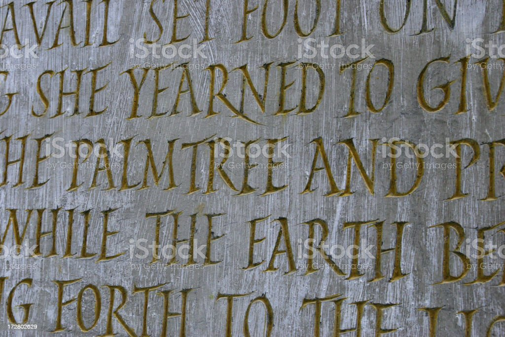 engraved text on stone royalty-free stock photo