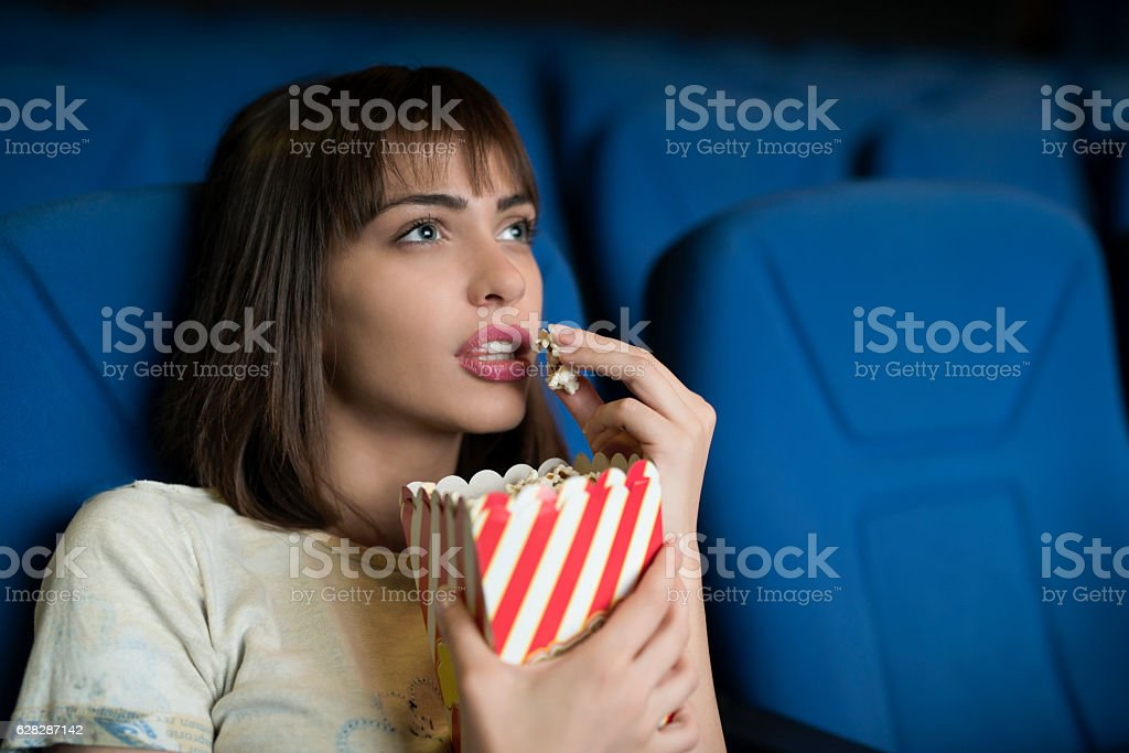 Engrossed in a favorite scene stock photo