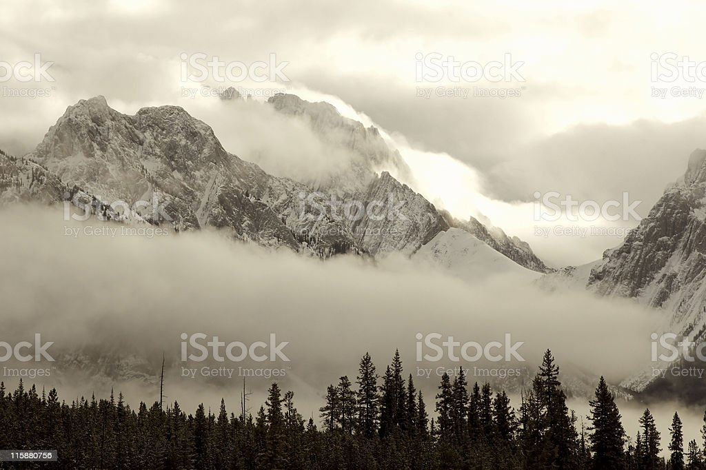 Engulfed in Clouds royalty-free stock photo