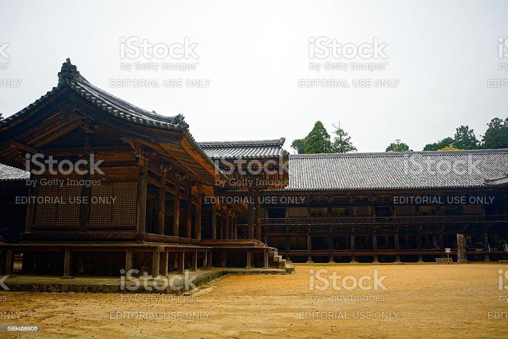Engyo-ji Buddhist temple, Mt. Shosha, Japan stock photo