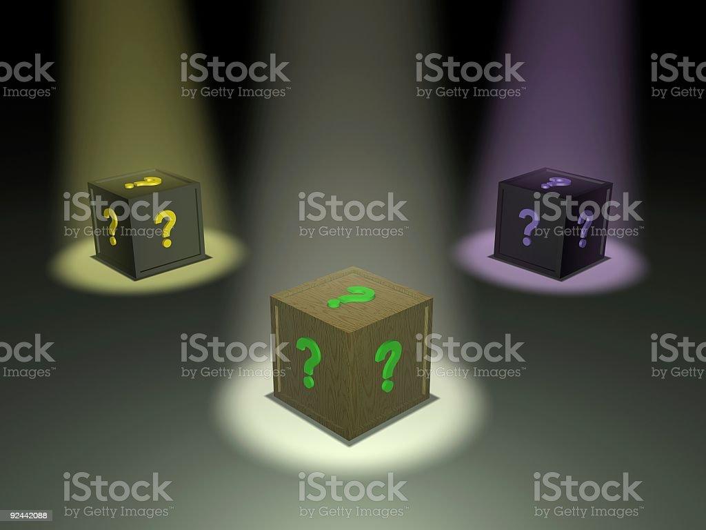 Enigma Boxes stock photo