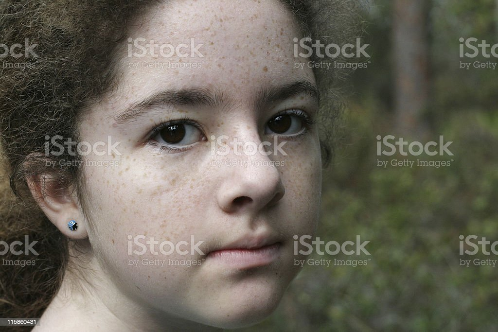 Enigmatic Young Girl royalty-free stock photo
