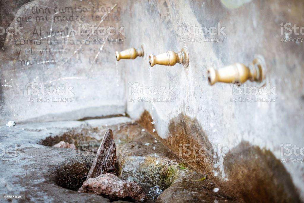 Enix village fountain, in Almeria, Spain stock photo