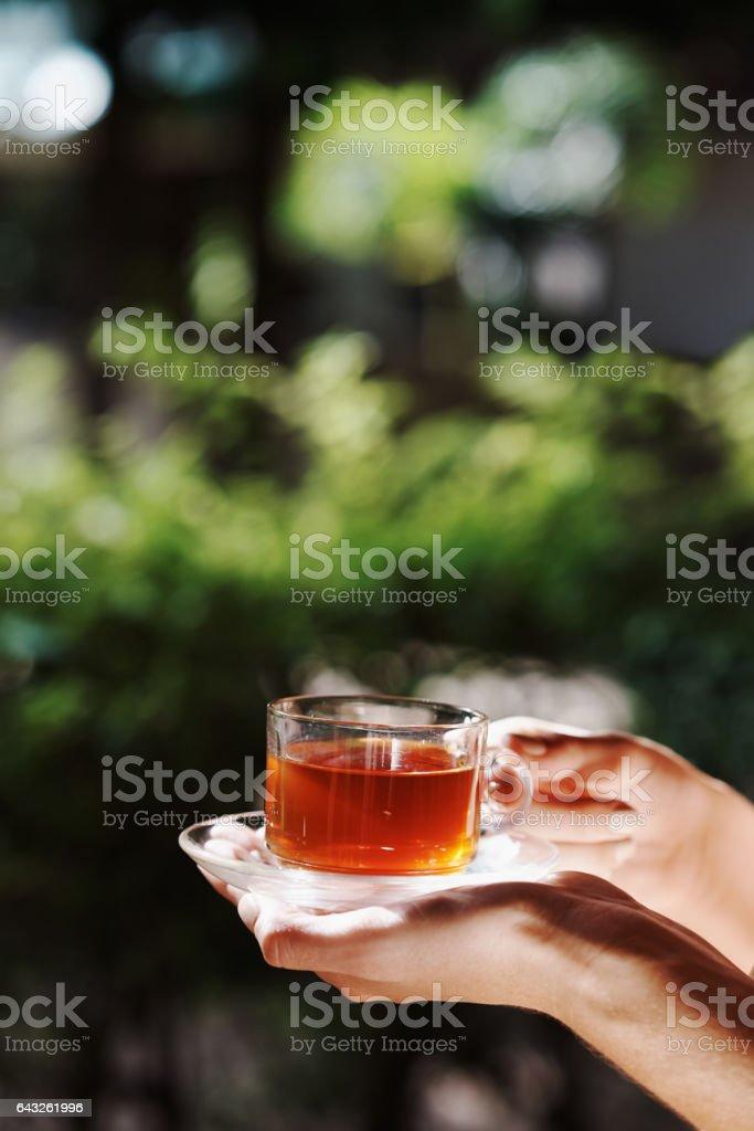 Enjoy a cup of sereni-tea stock photo