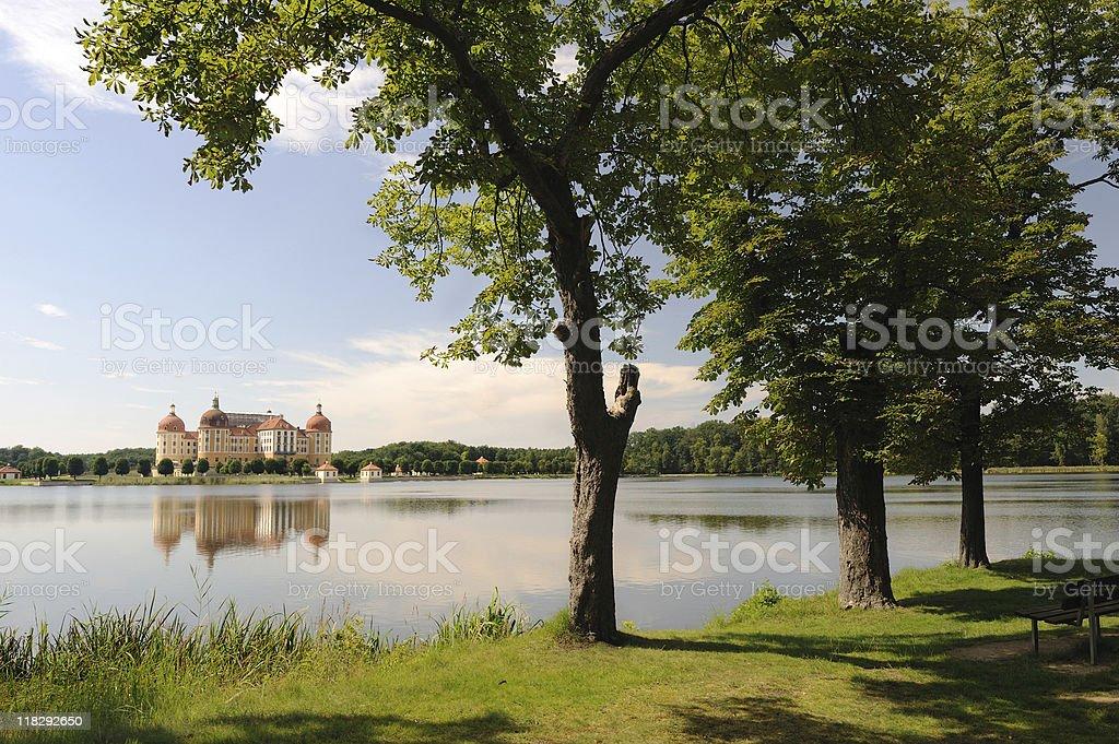 Enjoy and Relax at Palace Moritzburg Summer Saxony stock photo