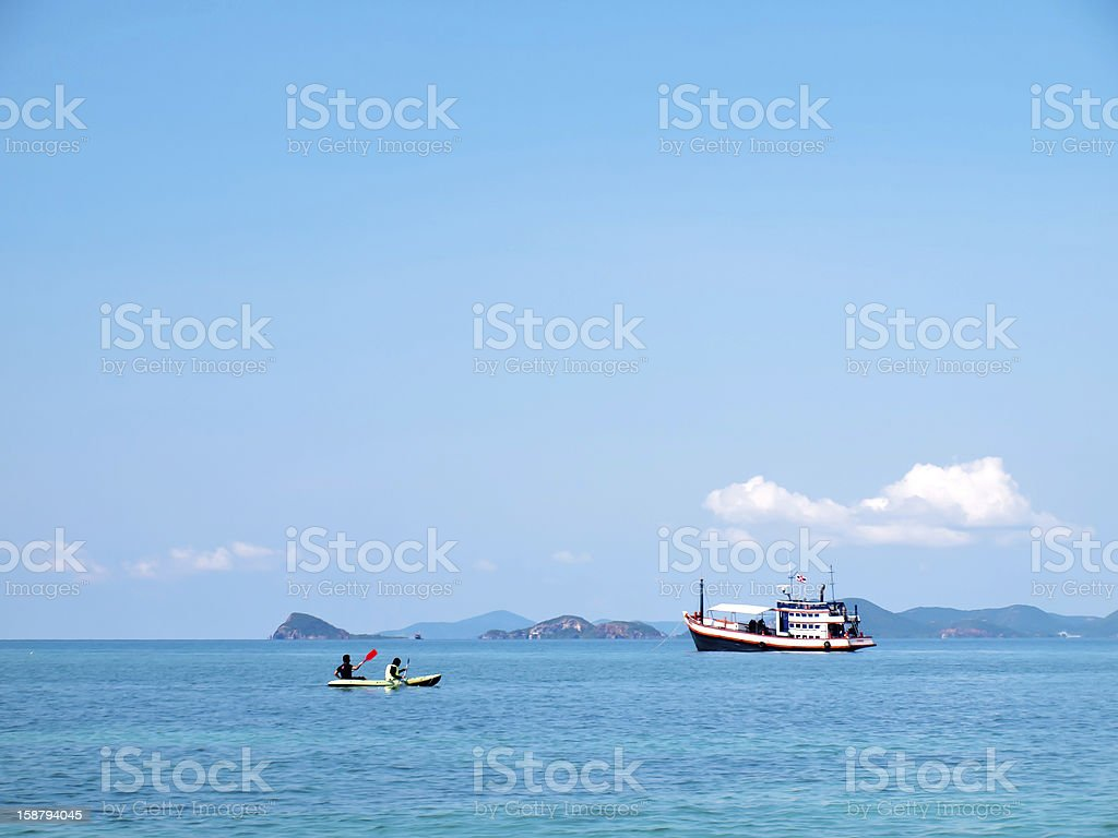 Enjoy boating stock photo