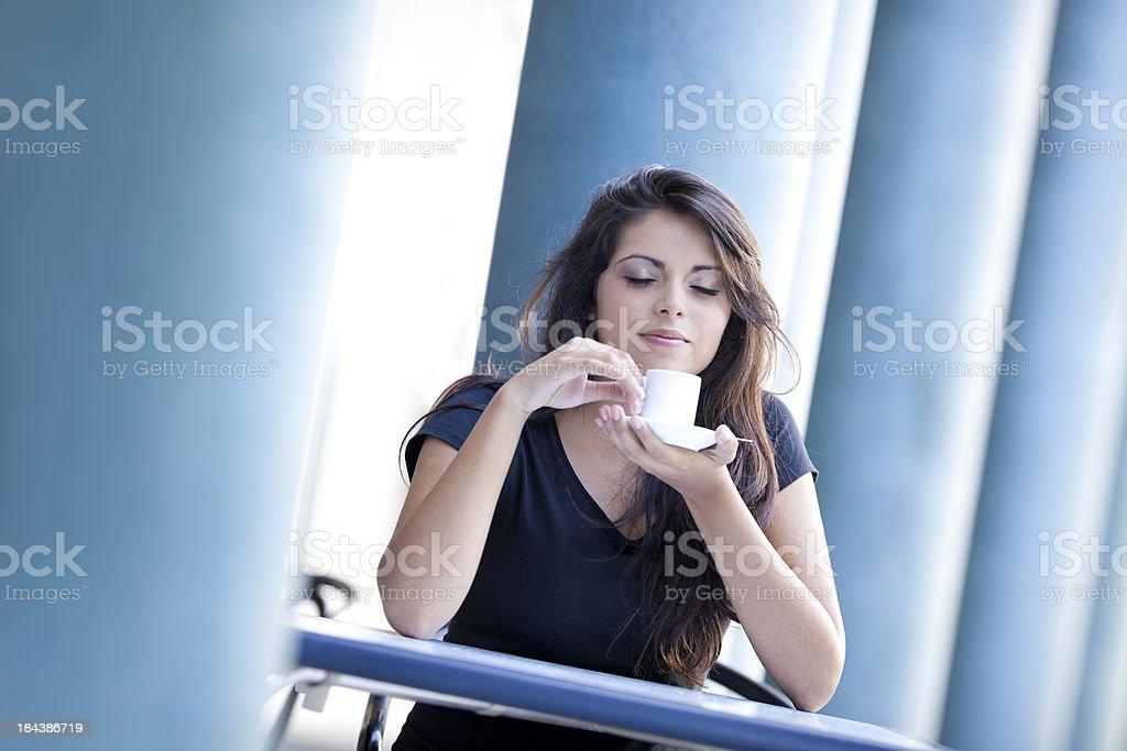 enjoy coffee royalty-free stock photo