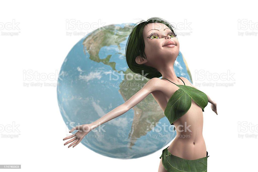Enjoy green world vector art illustration