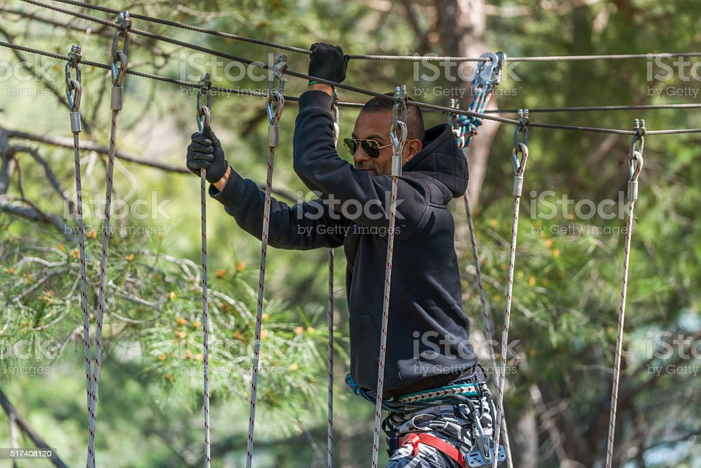 enjoy in adventure park stock photo