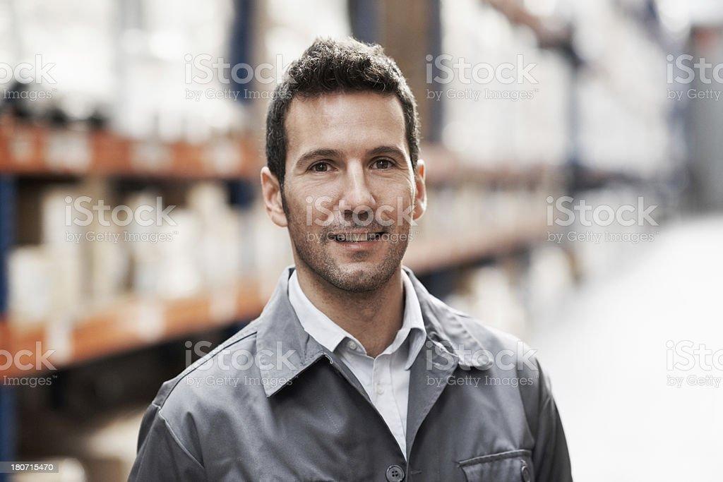 I enjoy managing this warehouse royalty-free stock photo