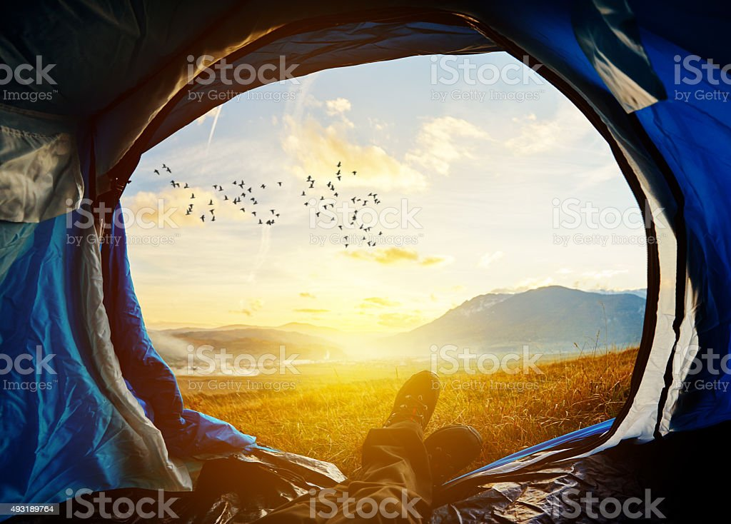 enjoy my adventure stock photo
