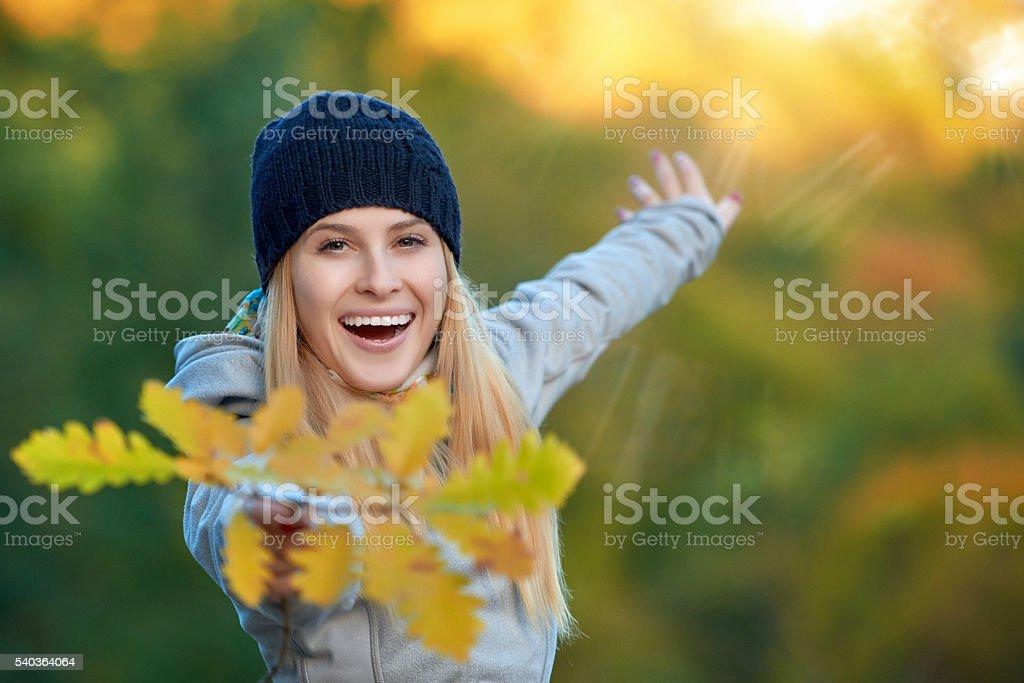 enjoy my amazing autumn day stock photo