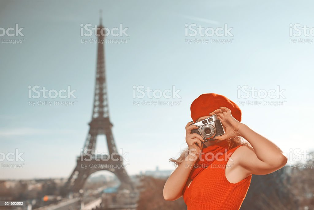 enjoy my city break in Paris stock photo