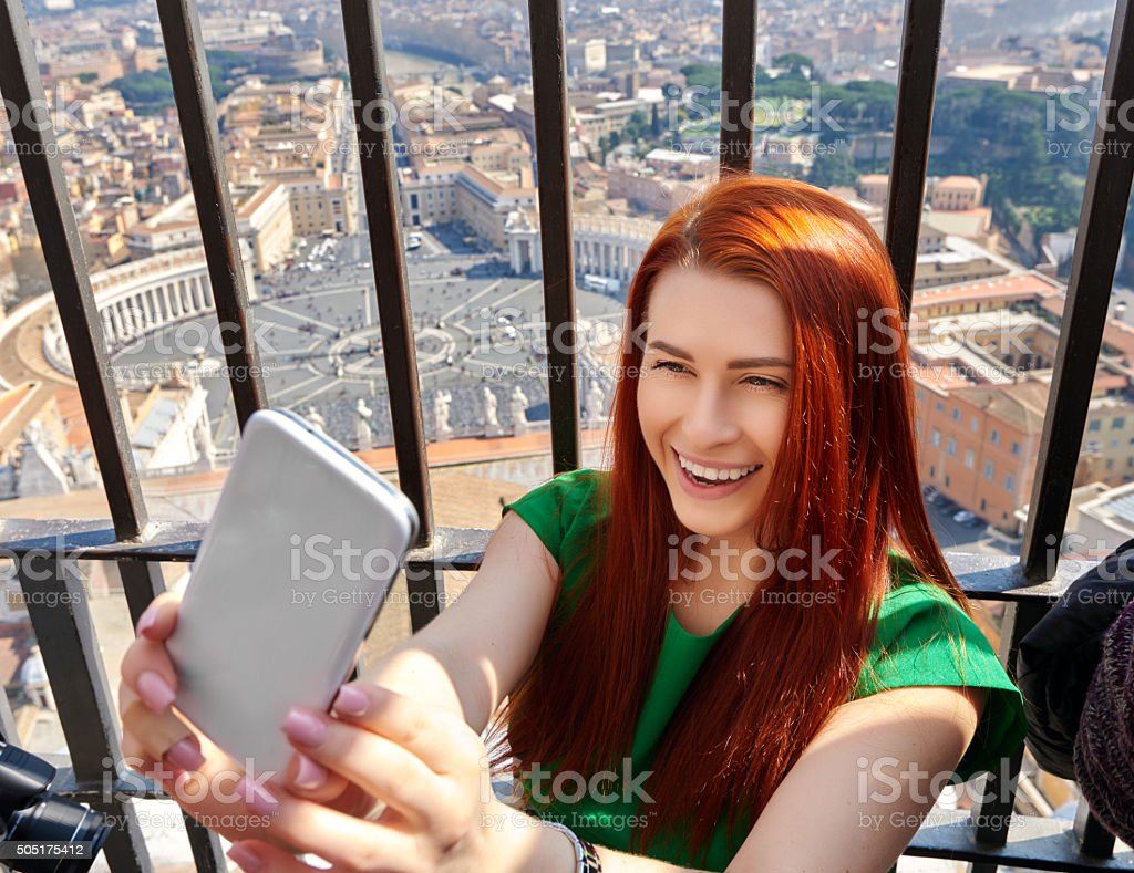 enjoy my Italy vacation stock photo