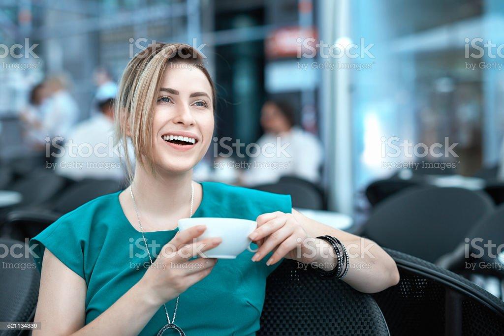 enjoy my morning coffee on terrace stock photo