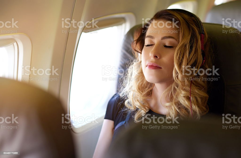 enjoy my relaxing flying stock photo